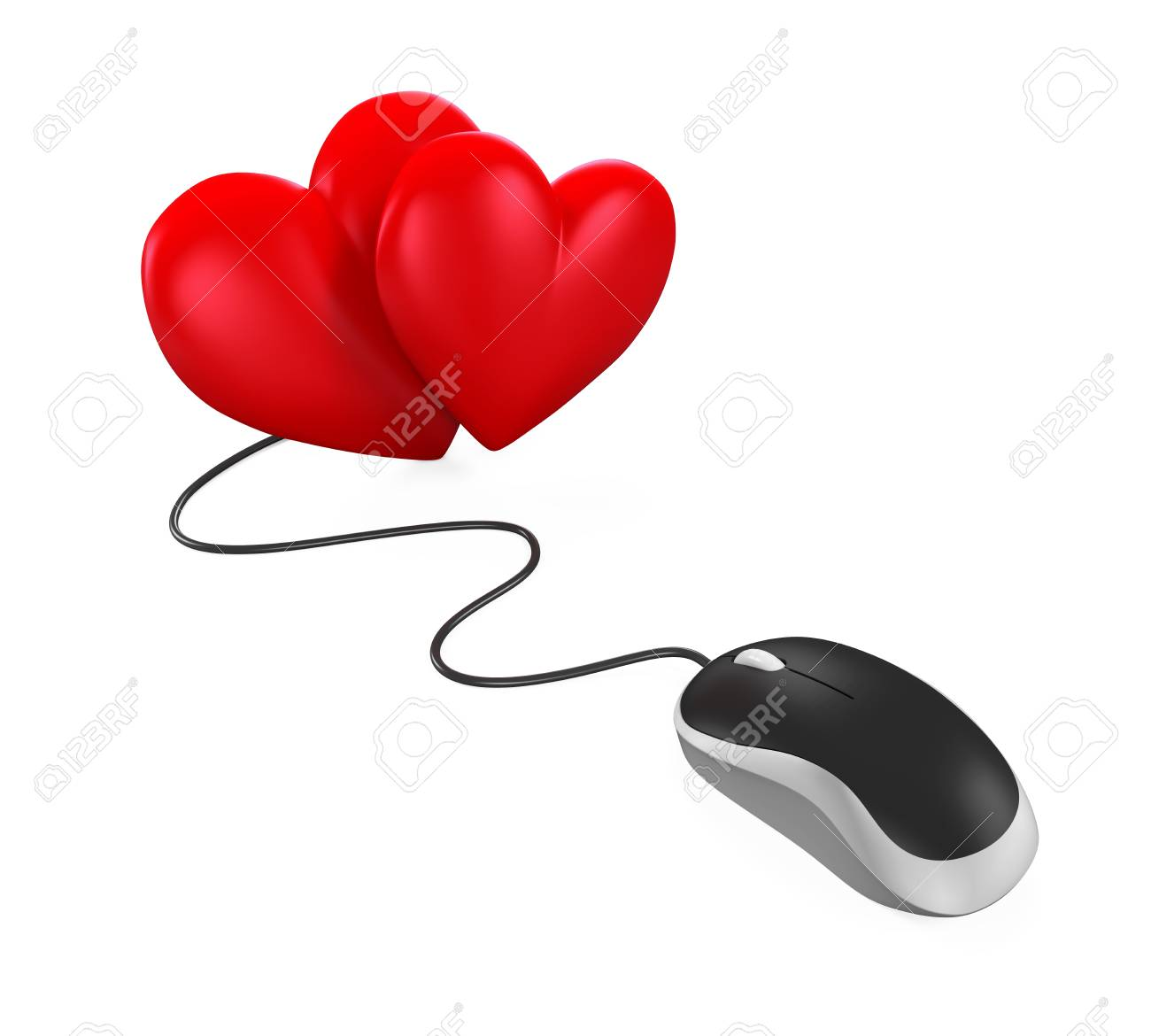 f09ba8f4463 Heart Shaped and Computer Mouse Stock Photo - 67255818