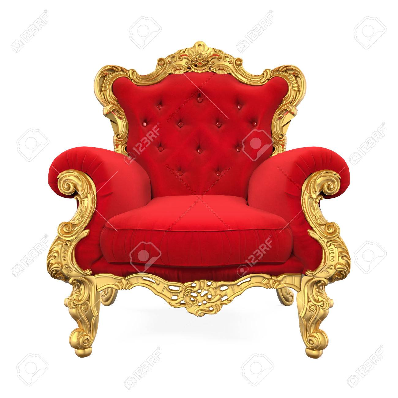 Throne Chair Isolated - 71072717