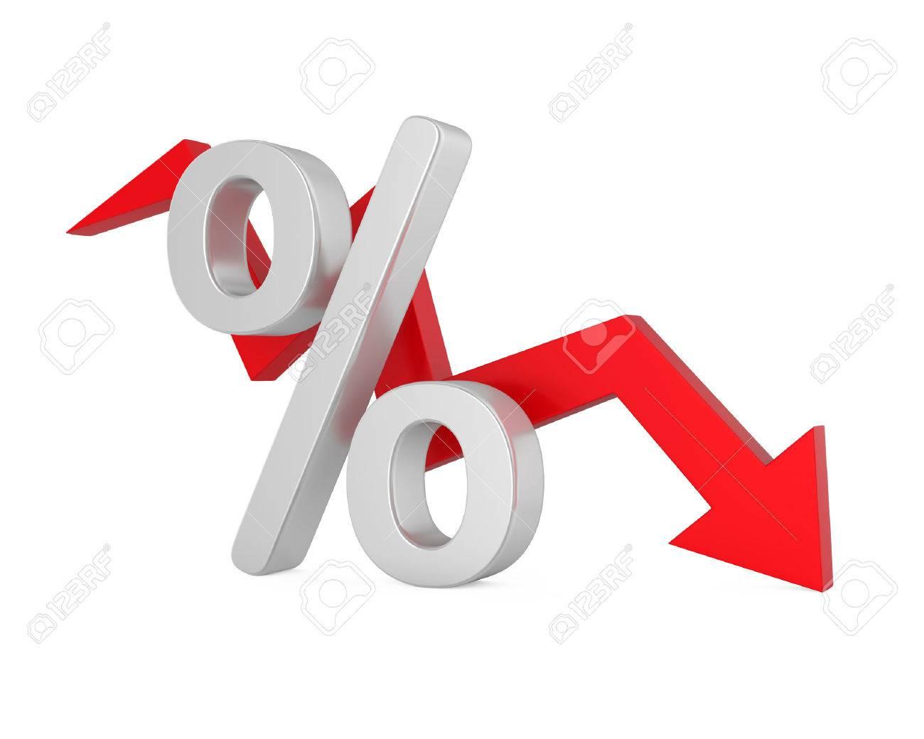 Percent Down Arrow - 70836222