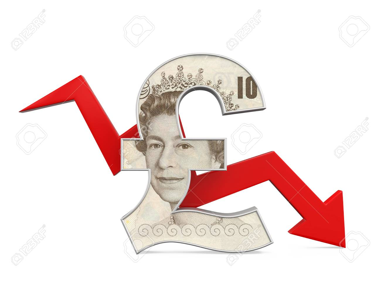 Great britain pound symbol and red arrow stock photo picture and great britain pound symbol and red arrow stock photo 71098512 biocorpaavc Images