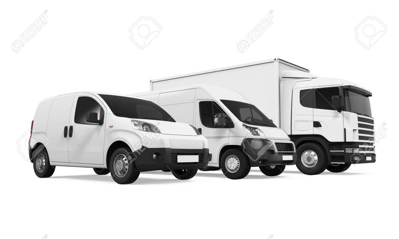 Fleet of Delivery Vehicles - 71707080