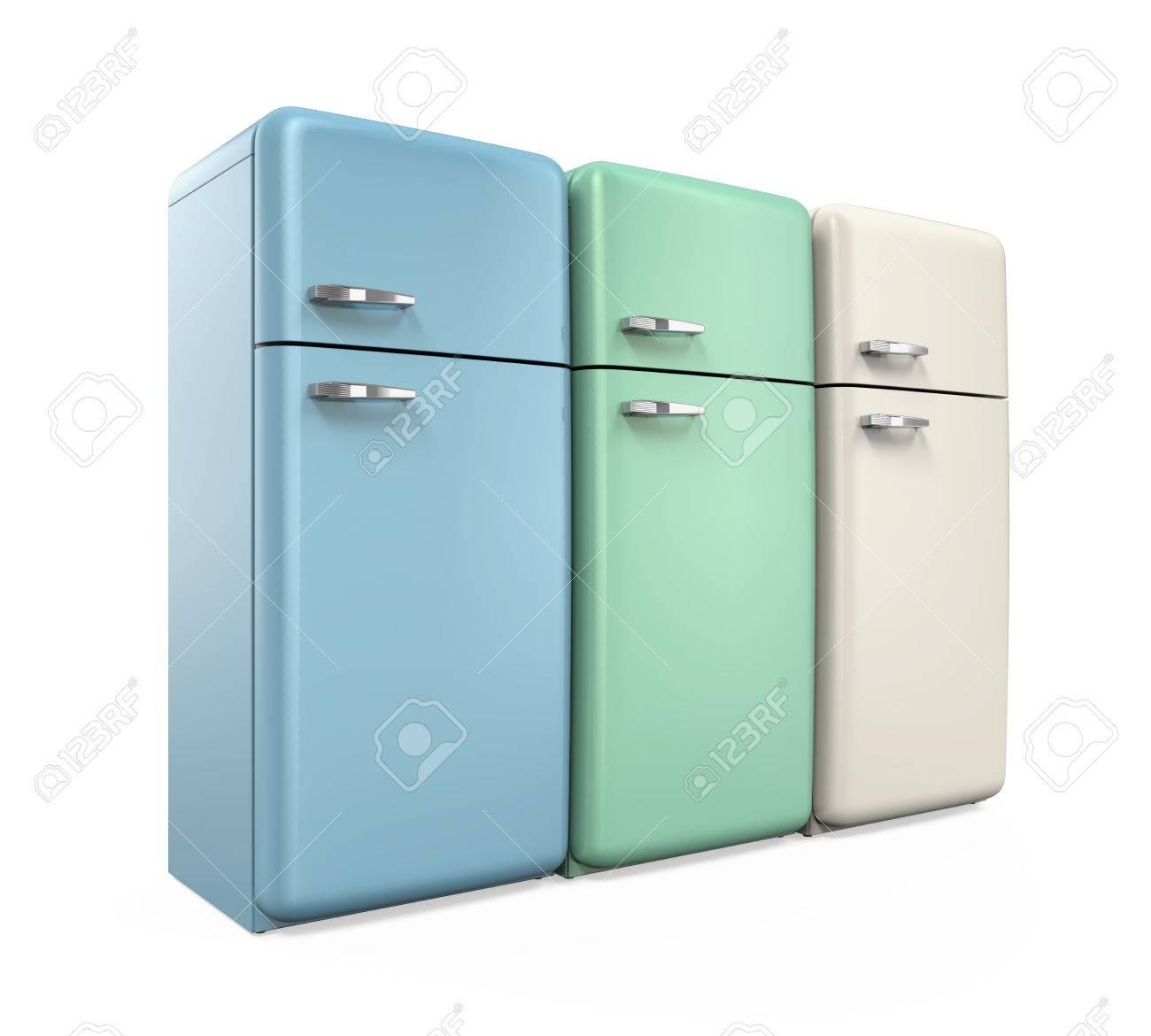 Retrokühlschränke  Retro Kühlschränke Isoliert Lizenzfreie Fotos, Bilder Und Stock ...
