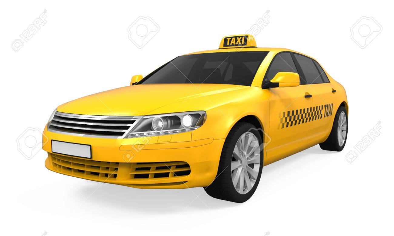 Yellow Taxi Isolated - 74994617