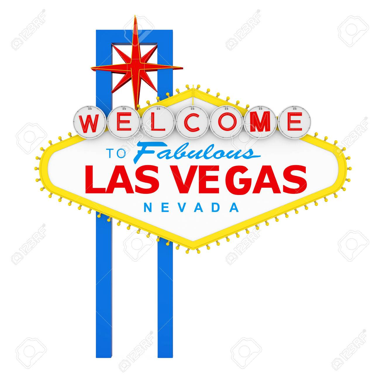 Welcome to Fabulous Las Vegas Sign Isolated - 85086827
