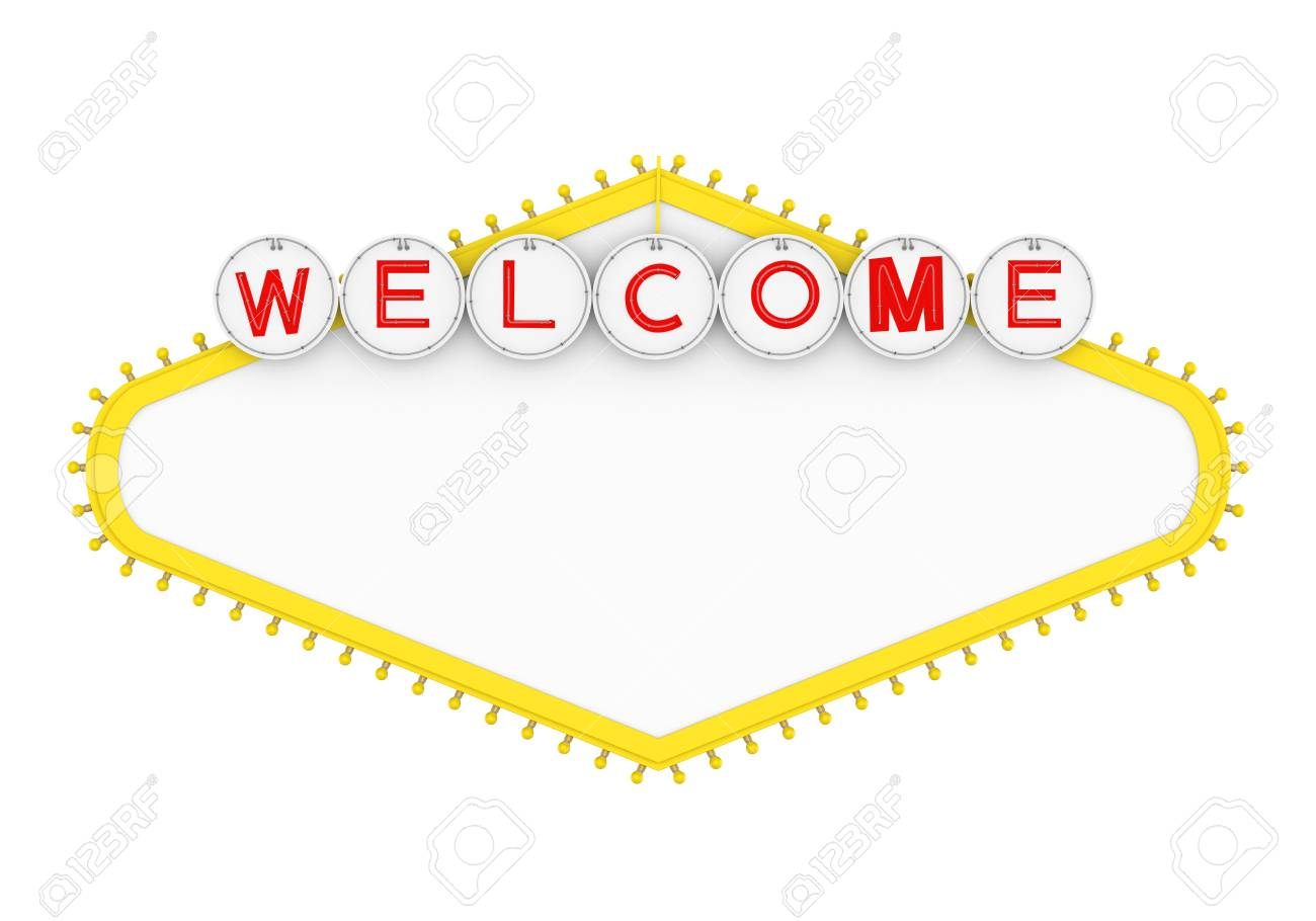 Blank Las Vegas Welcome Sign Isolated - 85086824