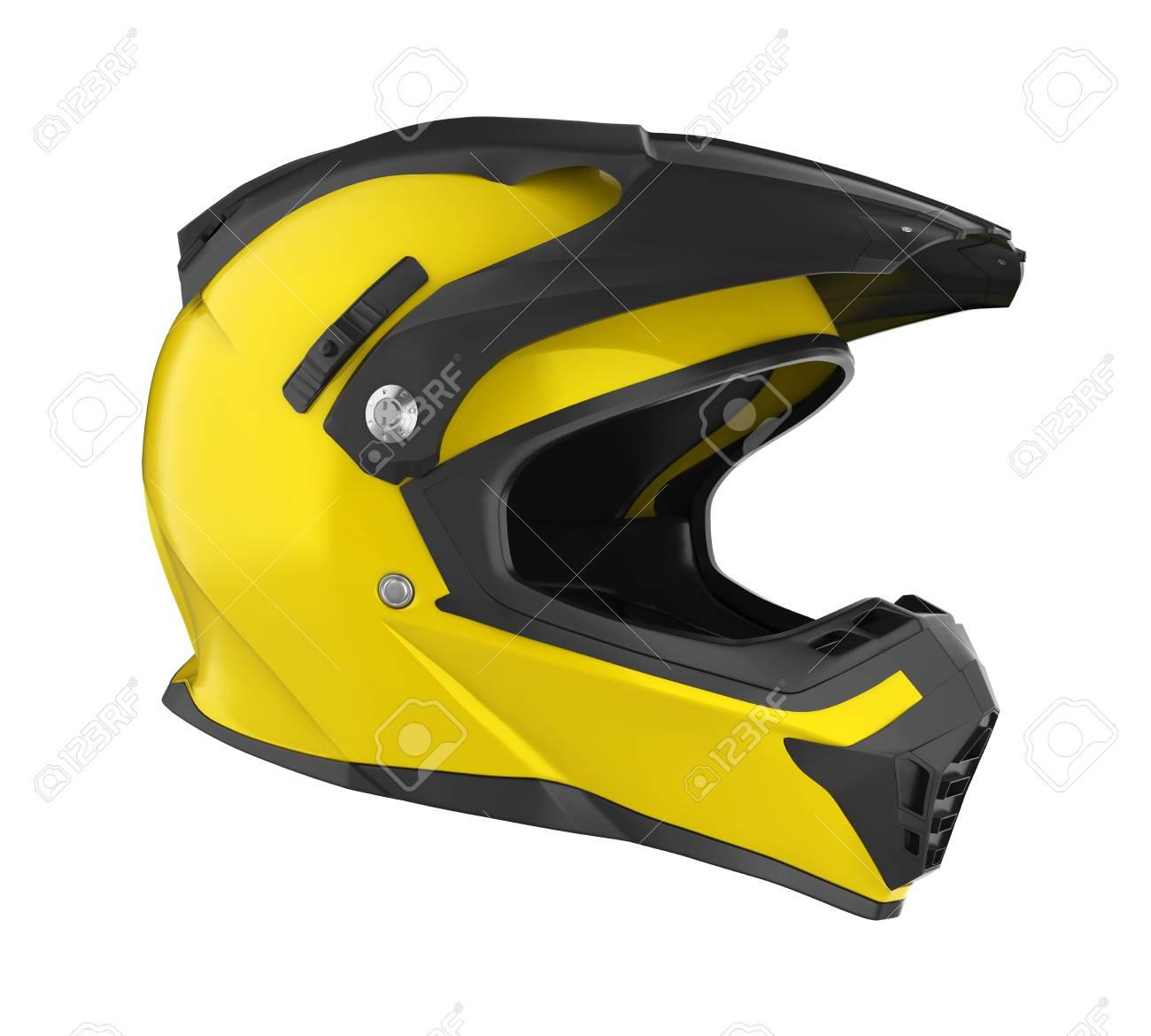 Motocross Helmet Isolated - 88034735