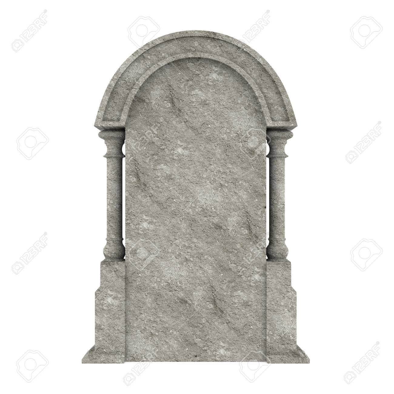 Blank Gravestone Isolated - 88332000