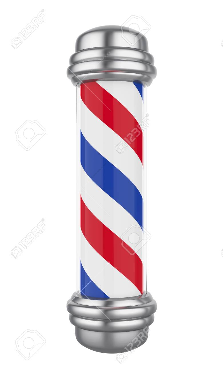 Classic Barber Shop Pole Isolated - 91111793
