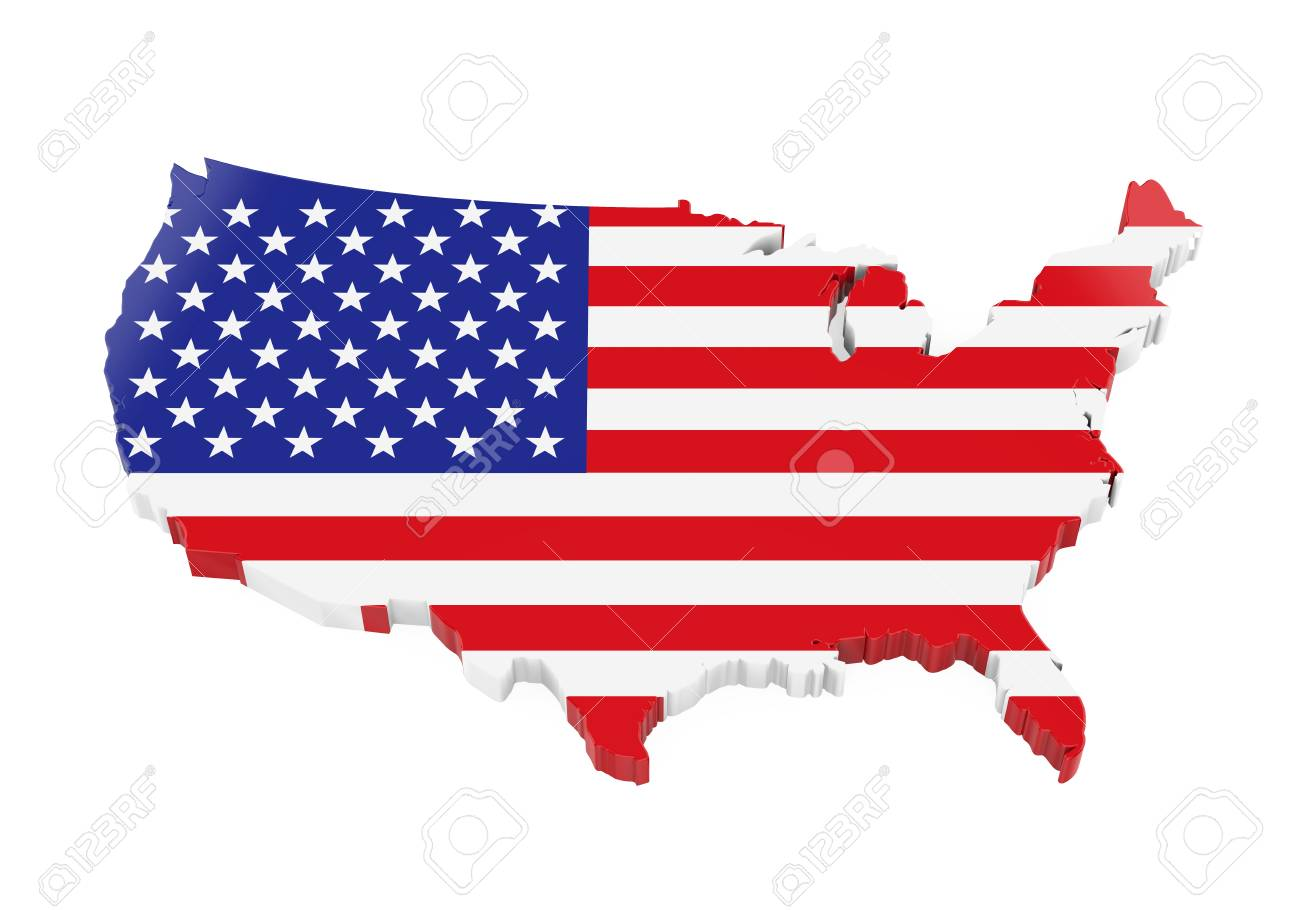 United States Of Americas Map.United States Of America Map Flag