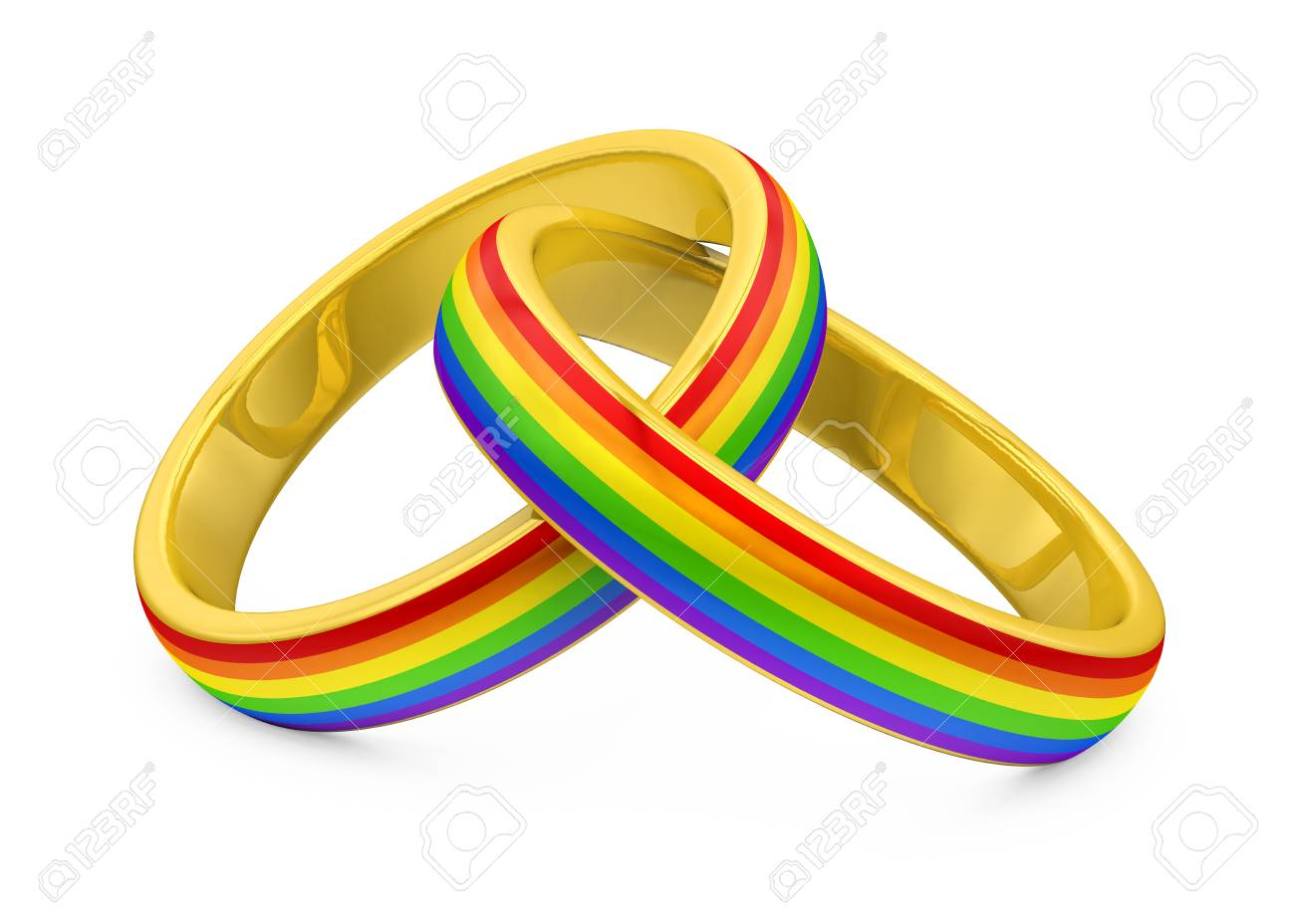 Wedding Rings Lgbt Isolated Stock Photo Picture And Royalty Free