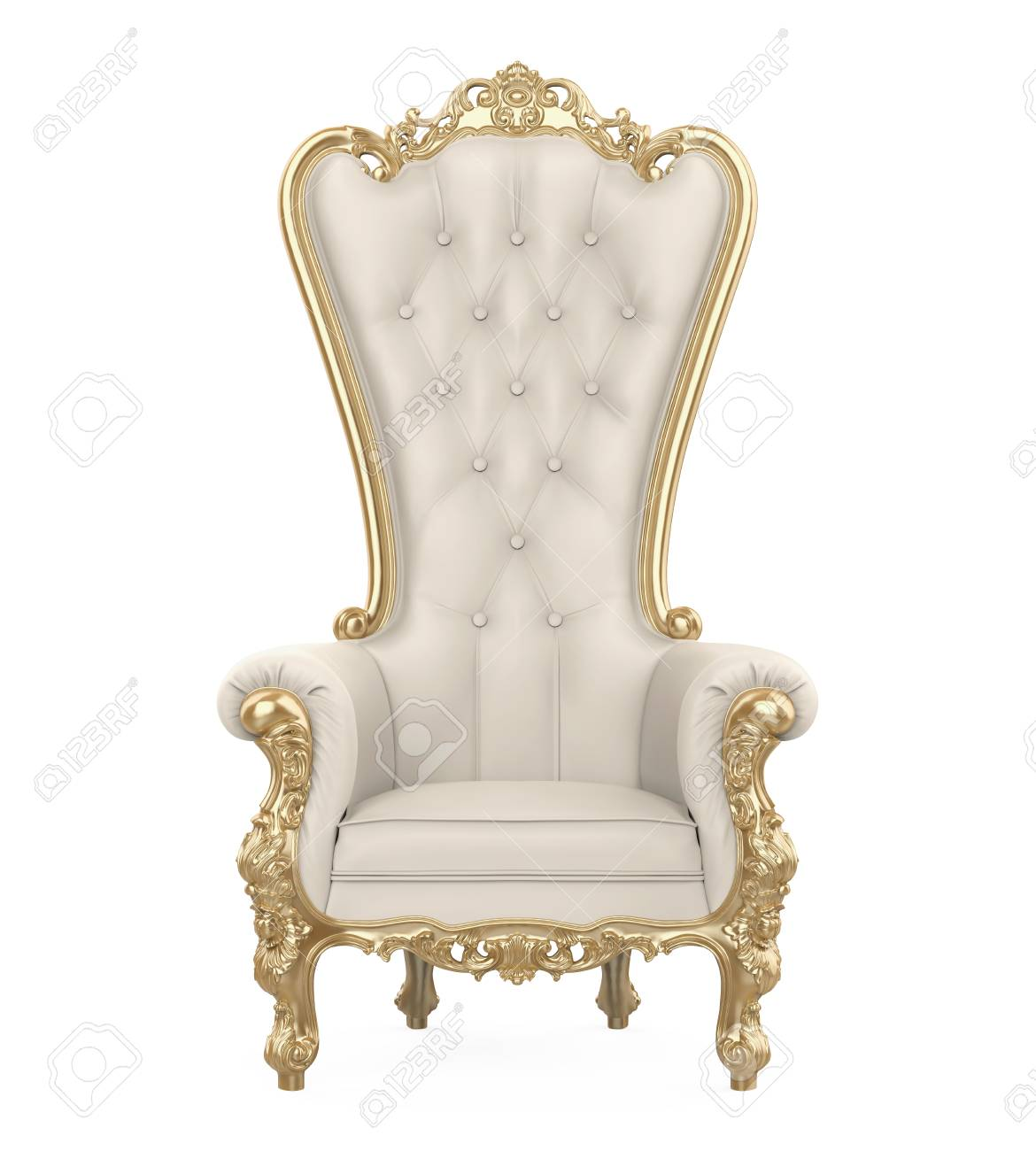 Throne Chair Isolated - 114851937