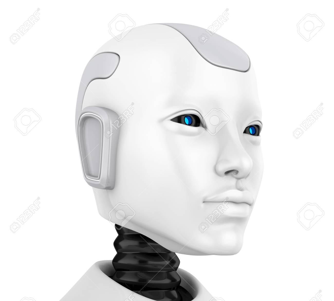 Robot Head Face Illustration - 120082446
