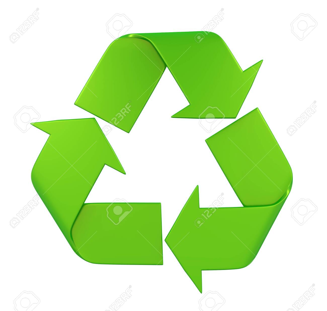 Recycle Sign Isolated - 121259964