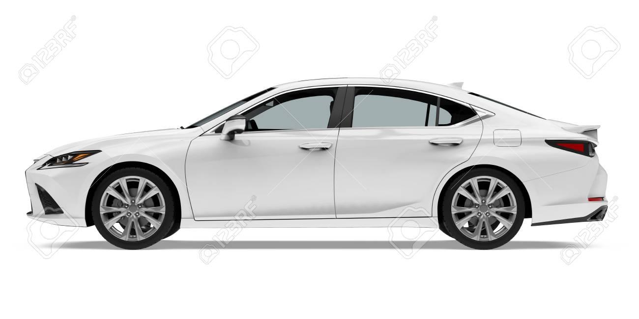 Sedan Car Isolated - 123004124