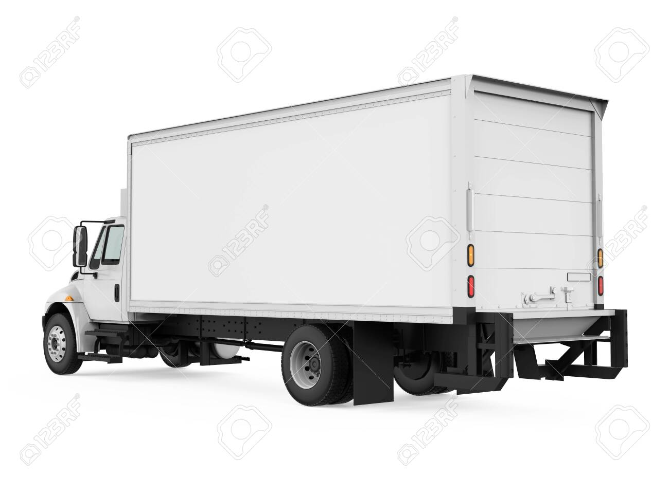 Refrigerated Truck Isolated - 128941950