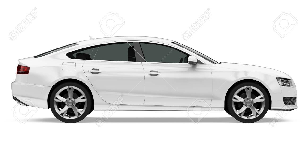 Sedan Car Isolated - 133952693