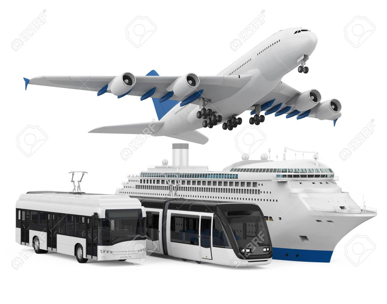 Fleet of Freight Transportation Isolated - 134287274