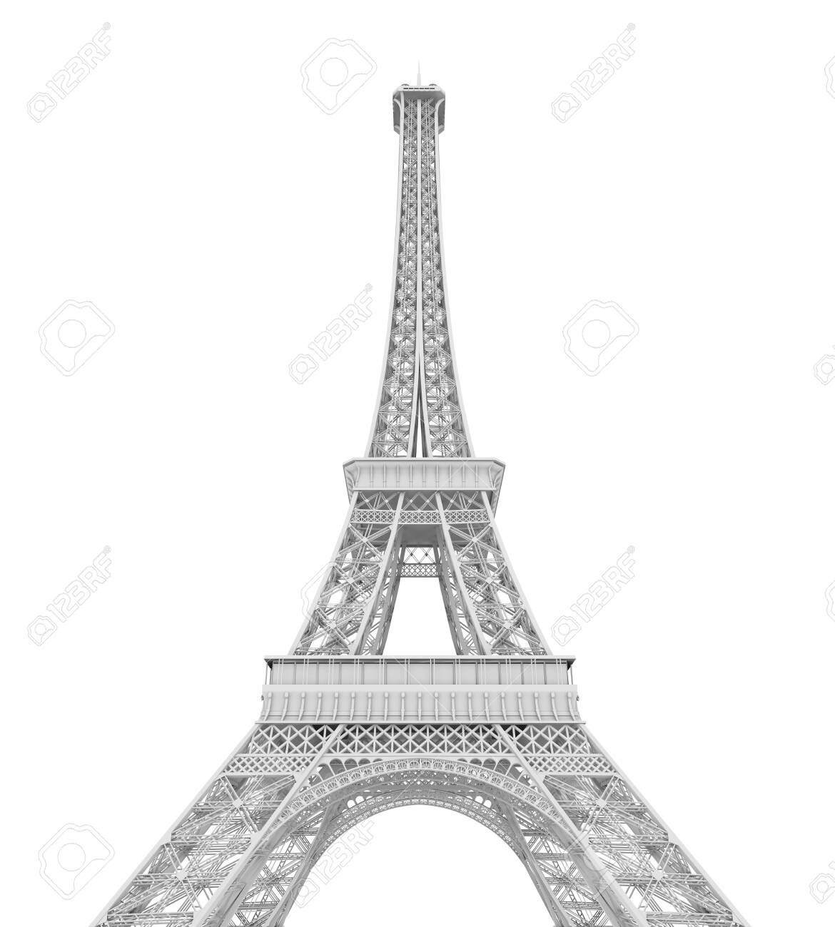 Eiffel Tower Isolated - 138265856