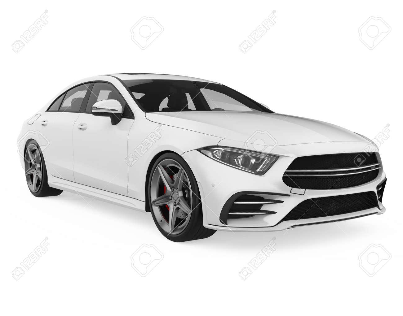 Sedan Car Isolated - 167846460
