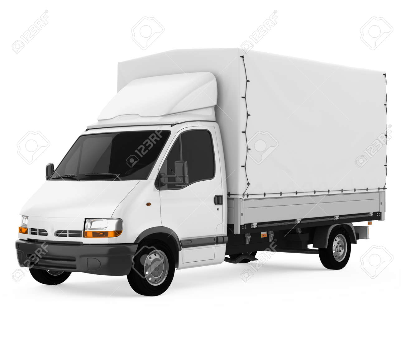 Delivery Truck Isolated - 169921484