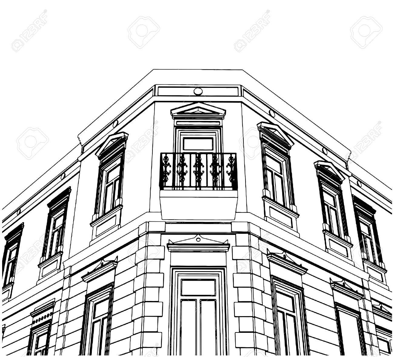 Building Corner Eclectic House Royalty Free Cliparts Vectors And