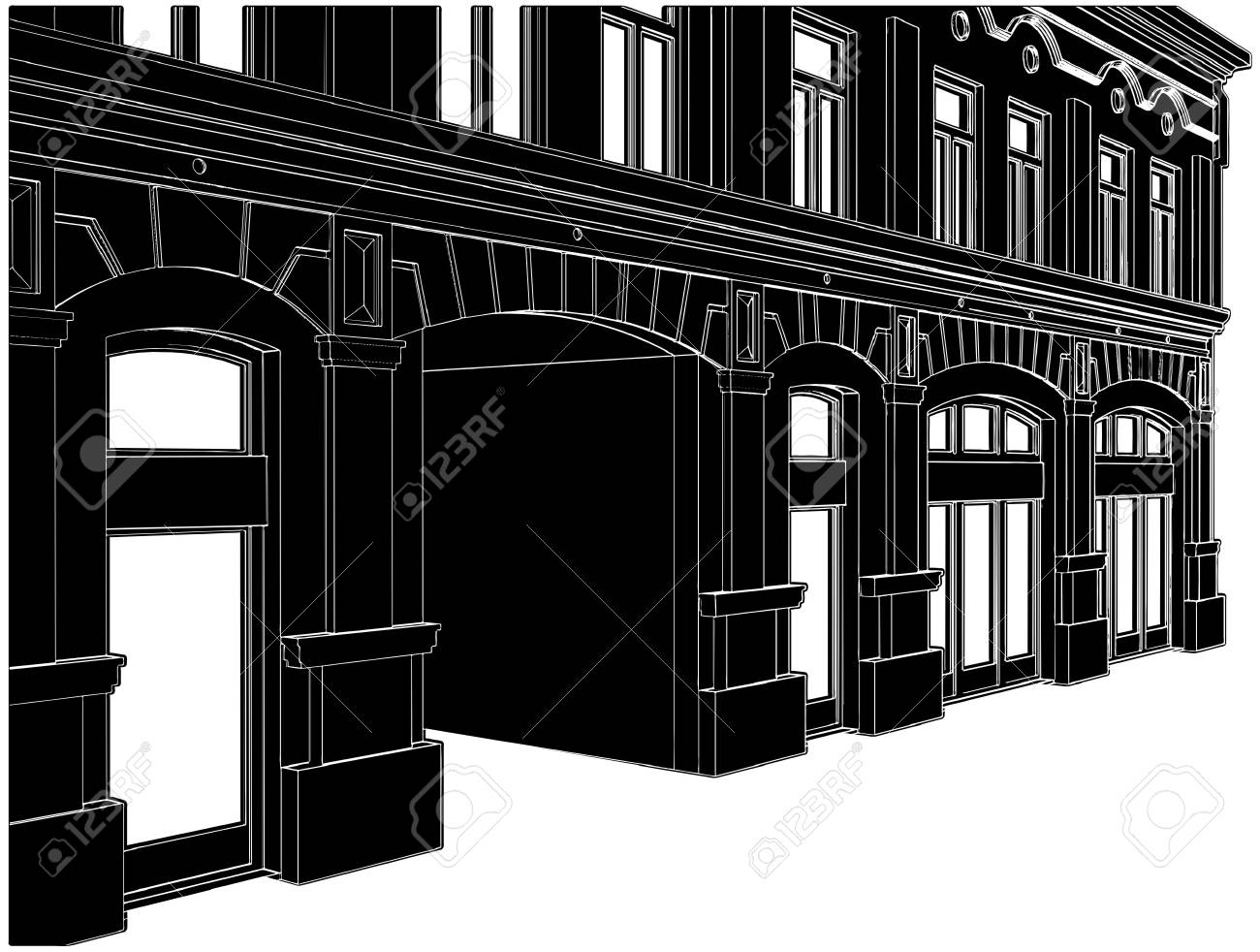 Building Eclectic House Stock Vector - 8069621