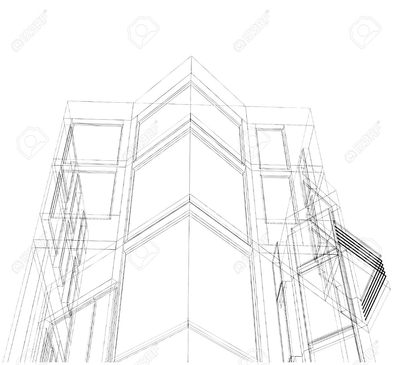 Abstract Constructions Of Line Stock Vector - 8135947