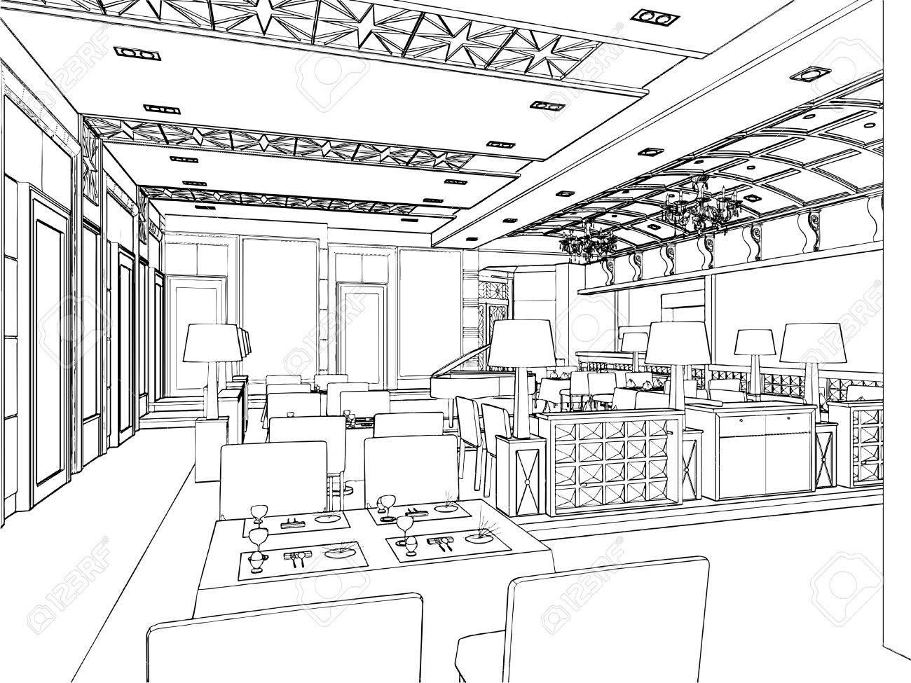Modern Restaurant Stock Vector - 9063848