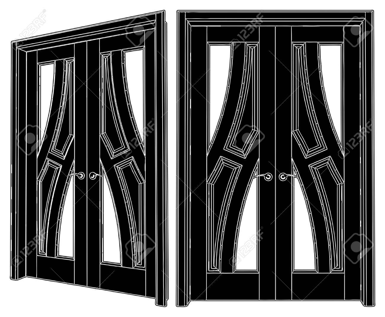 Classic Door Stock Vector - 9284644