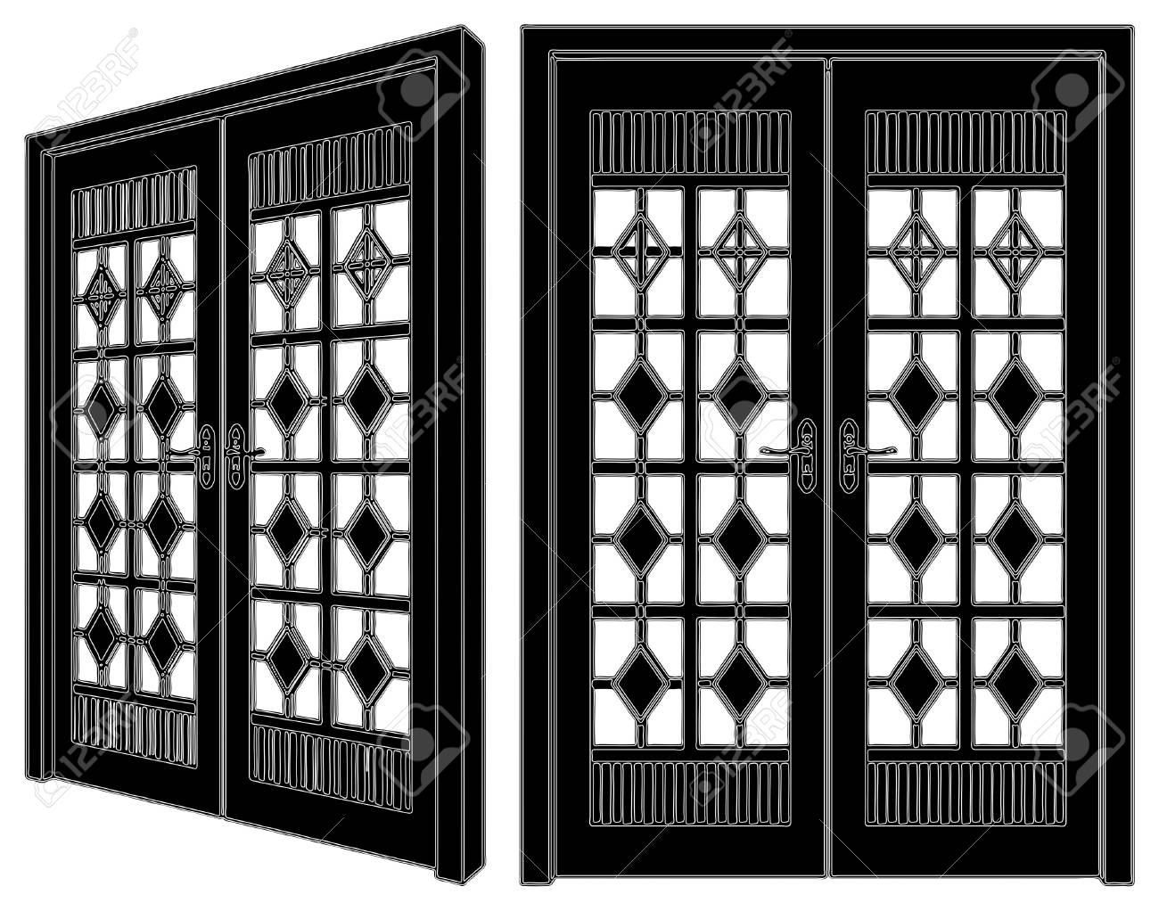 Wooden Door Stock Vector - 9946525