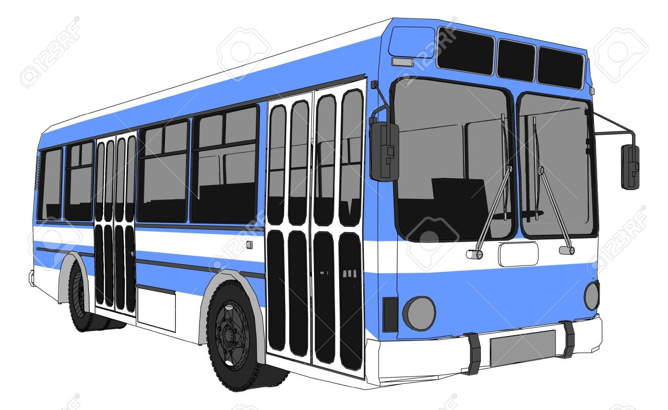 Awesome Modern City Bus Stock Vector   12002163