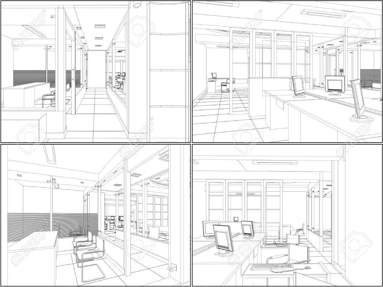 Interior Office Rooms Stock Vector - 12366004