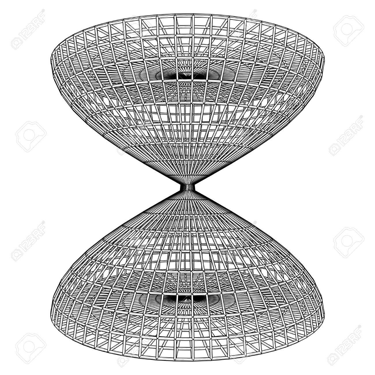 Structural Construction Of Hourglass Cage Vector Stock Vector - 25185095