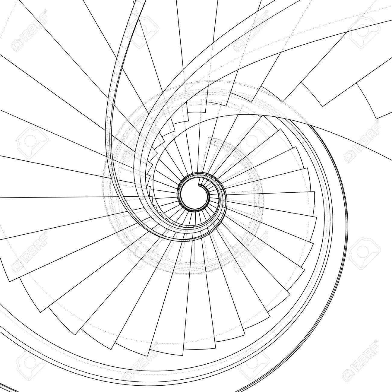 escalera de caracol vector foto de archivo