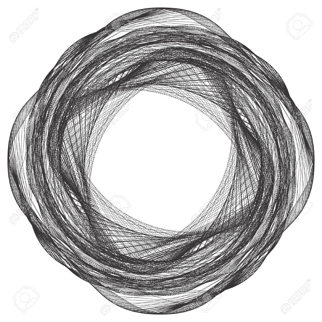 Geometric Twisted Organic Wire Frame Shape Vector Royalty Free ...