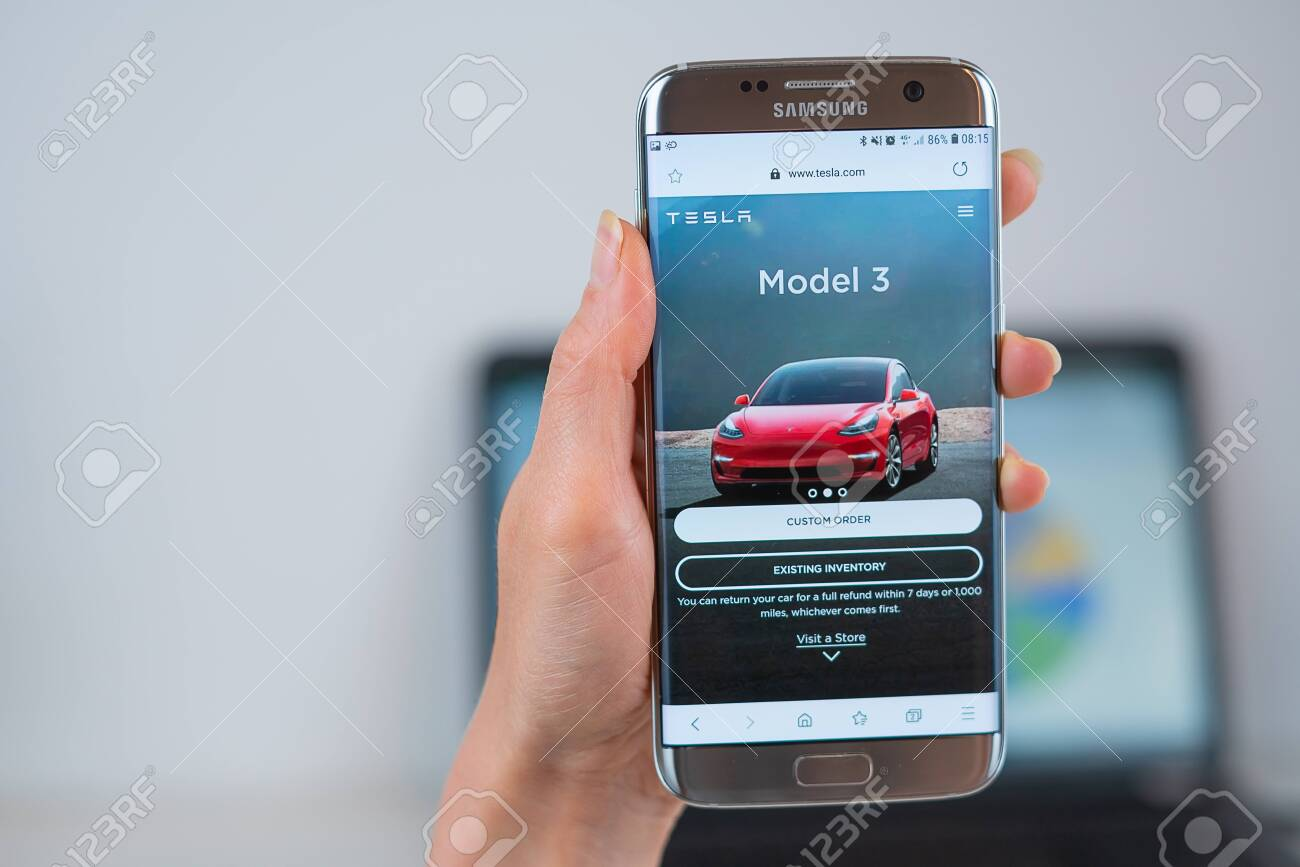 Barcelona Spain 05 25 2019 Tesla Web Site On Mobile Phone Stock Photo Picture And Royalty Free Image Image 128309242