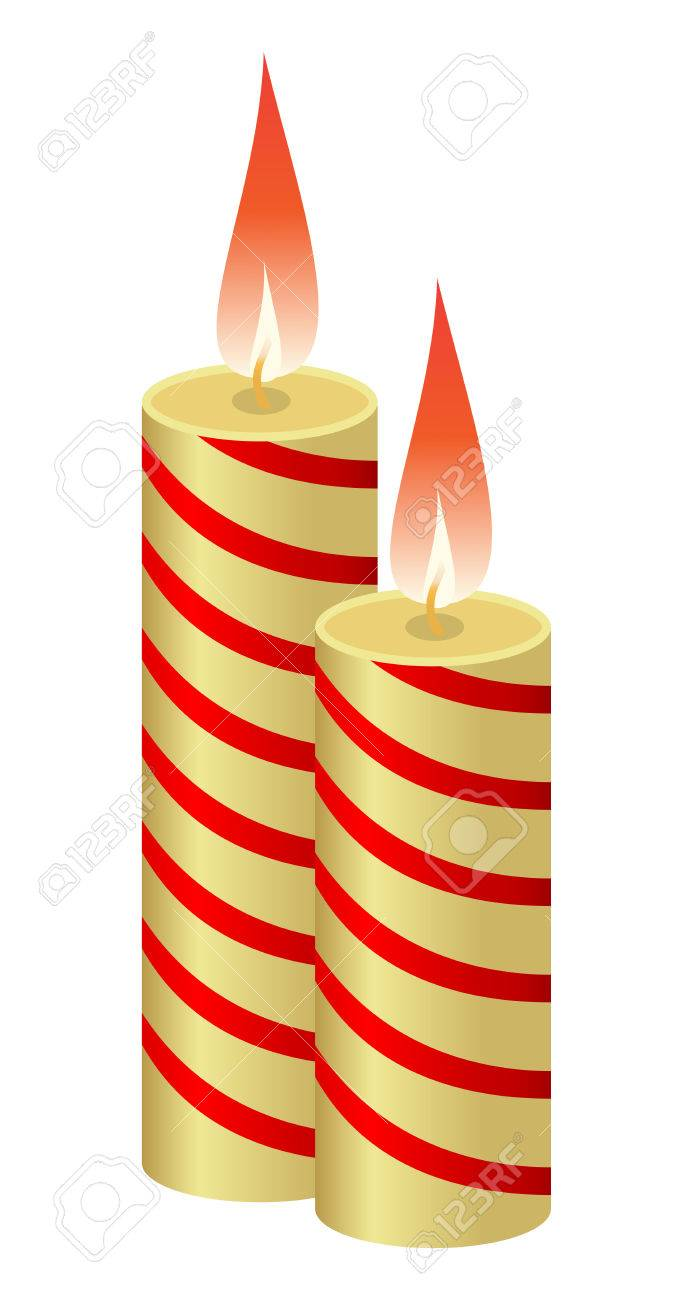 Candle melting while giving light. Vector illustration. Stock Vector - 5441146
