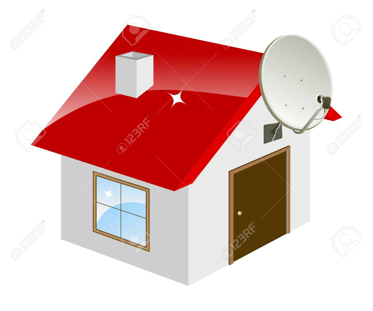Little house isolated on a white. Vector illustration. Stock Vector - 5441149