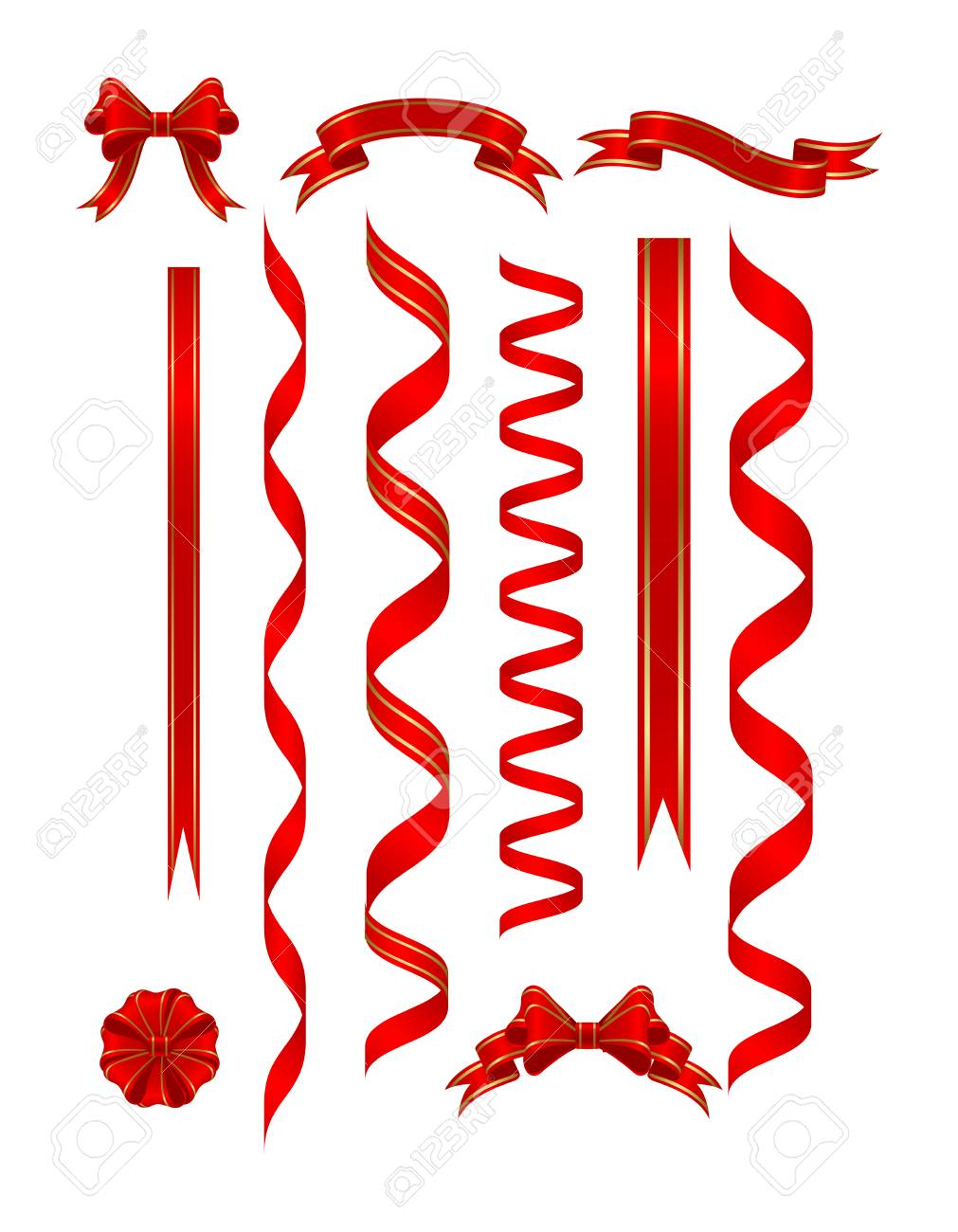 Red banners isolated on a white. vector illustration Stock Vector - 5520152