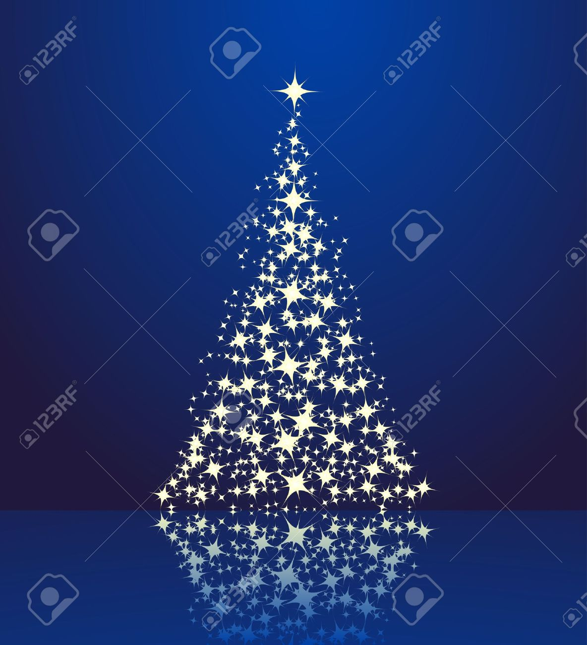 Christmas background, silhouette of a christmas tree. Stock Vector - 7532299