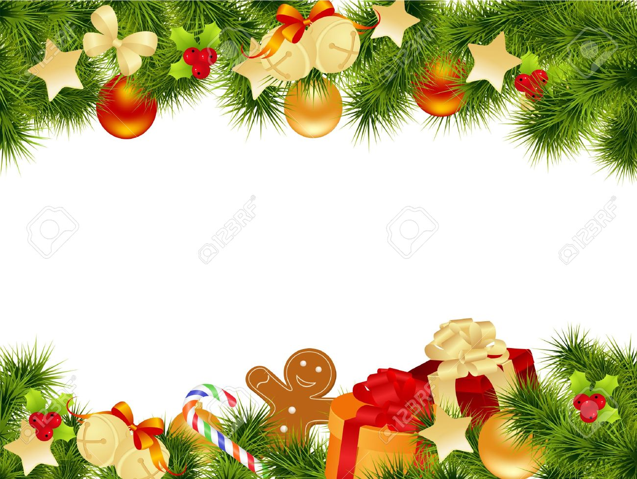 Christmas Card Border.Christmas Card Background Vector Illustration