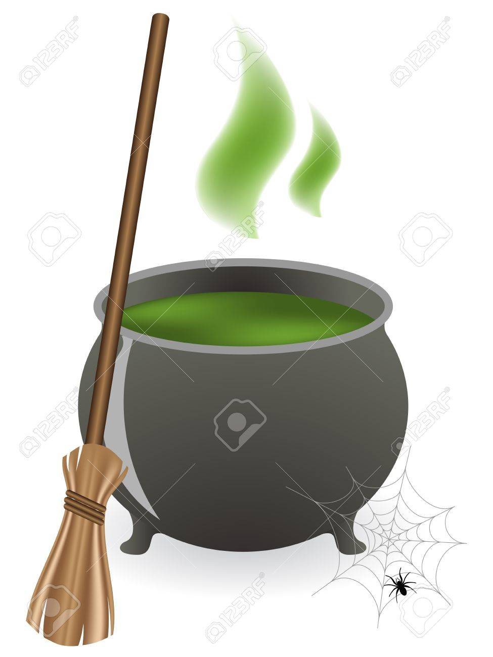 a vector illustration of a halloween witches cauldron royalty