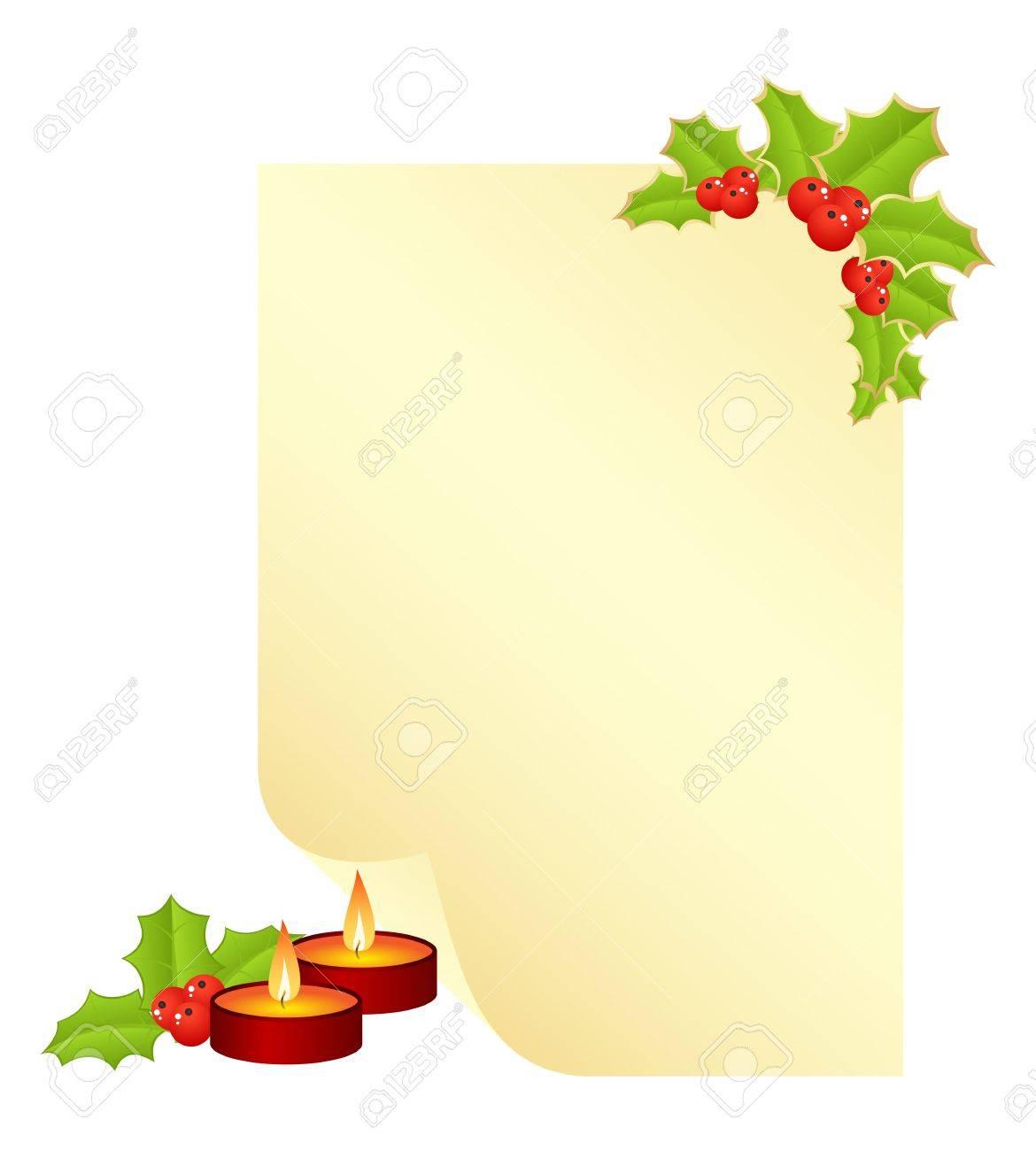 Weihnachten Formular Für Den Brief Mit Neuen Jahr Dekorationen