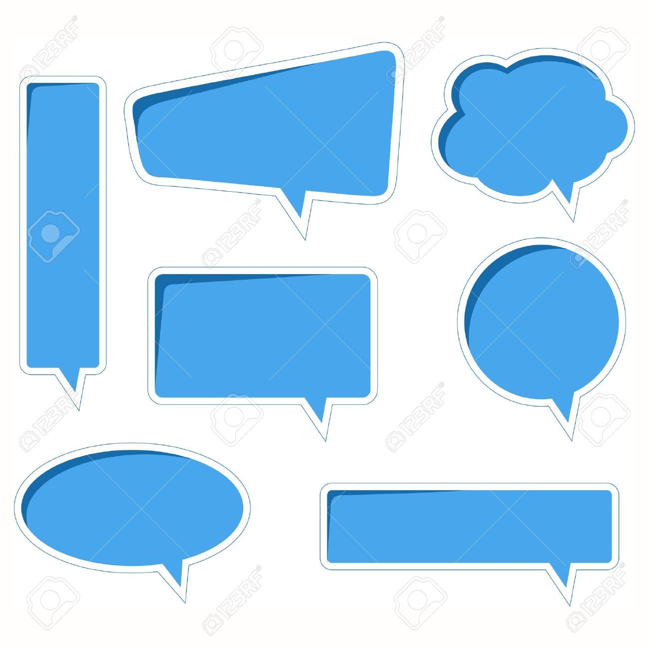 blue vector speech bubbles with realistic shading and shadows rh 123rf com free vector cartoon speech bubbles free vector speech bubble download