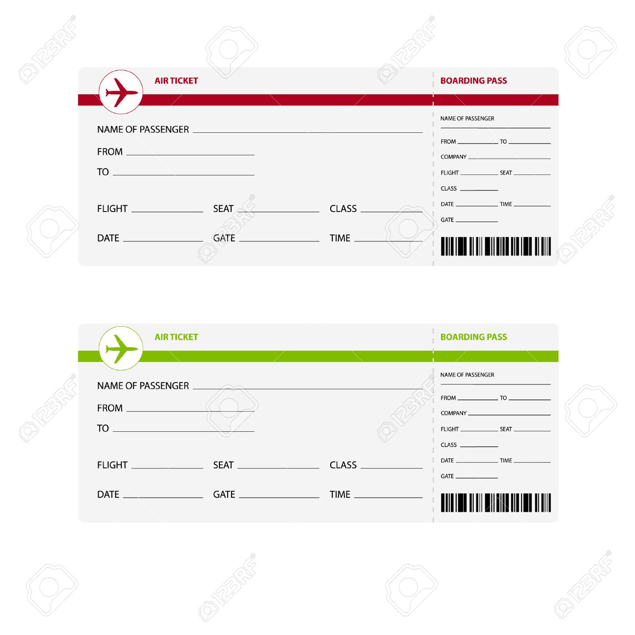 Blank Plane Ticket Template boarding pass template royalty free – Plane Ticket Template