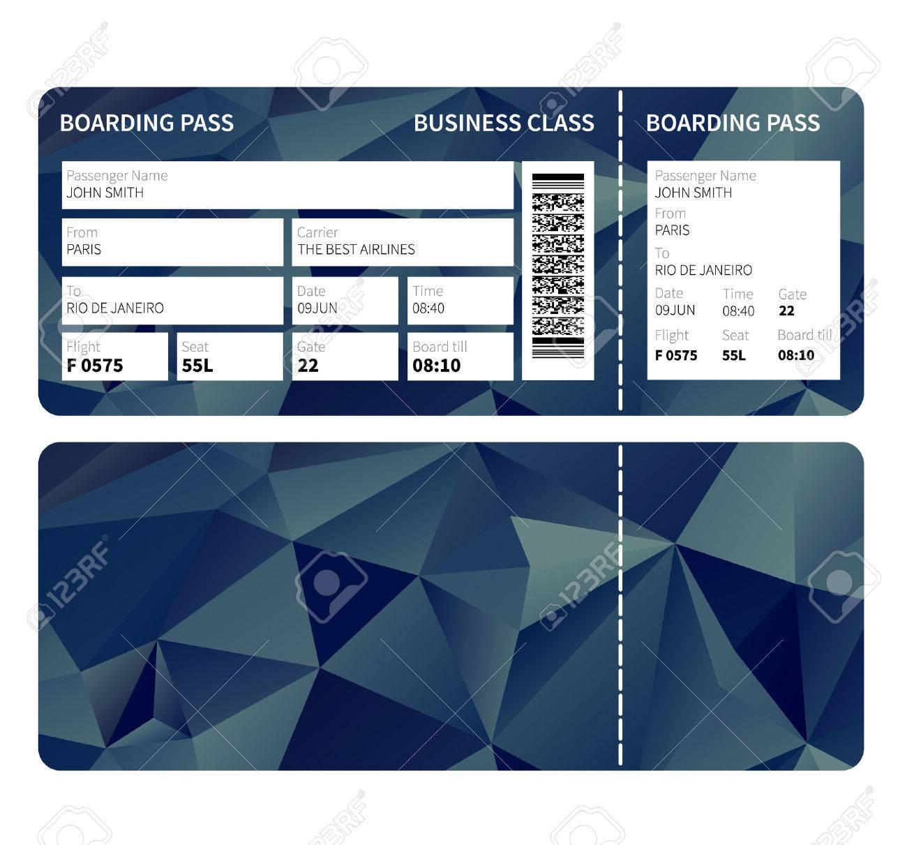 Airline boarding pass ticket for business class vector illustration airline boarding pass ticket for business class vector illustration stock vector 38967047 colourmoves