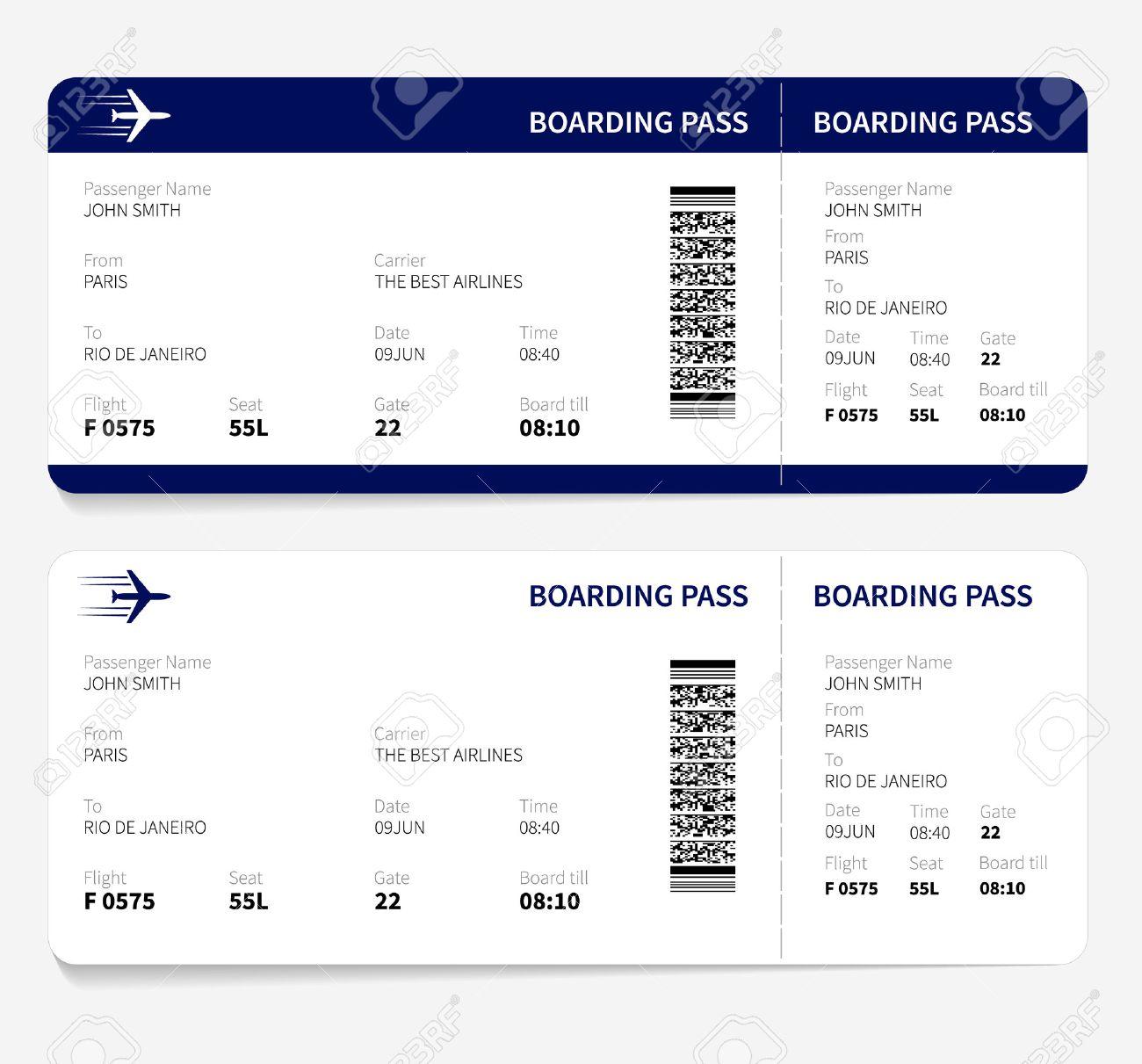 Fein Flugzeug Ticket Vorlage Galerie - Beispielzusammenfassung Ideen ...