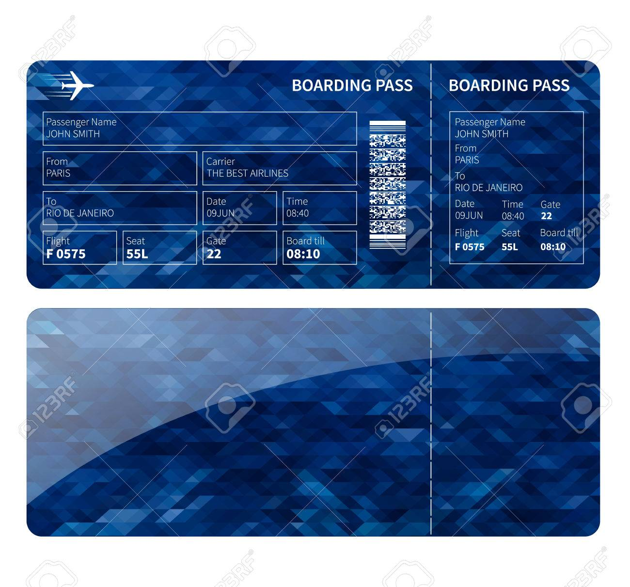 Airline boarding card ticket for business class vector illustration airline boarding card ticket for business class vector illustration stock vector 42484069 colourmoves
