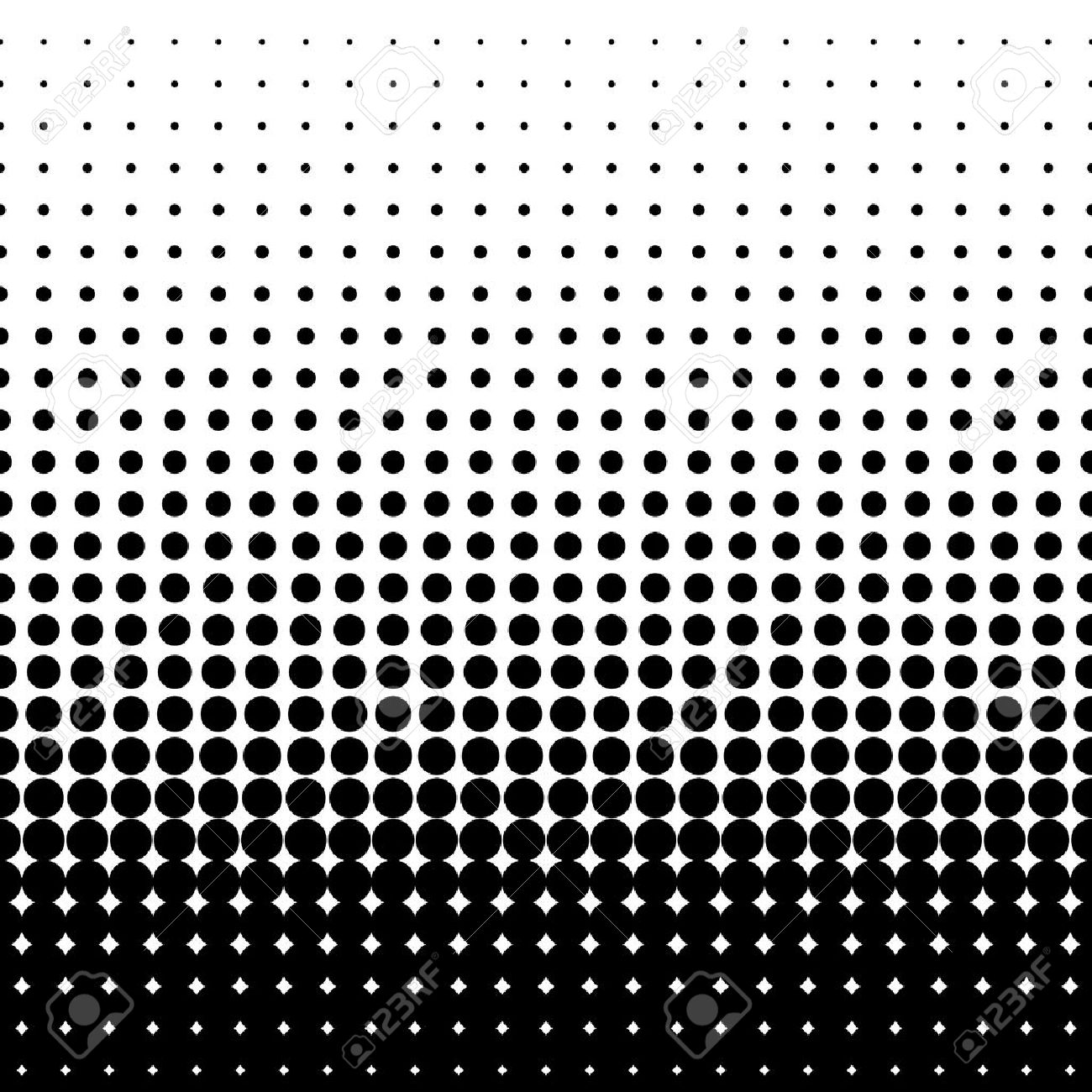 Halftone Dots Black Dots On White Background Vector Illustration
