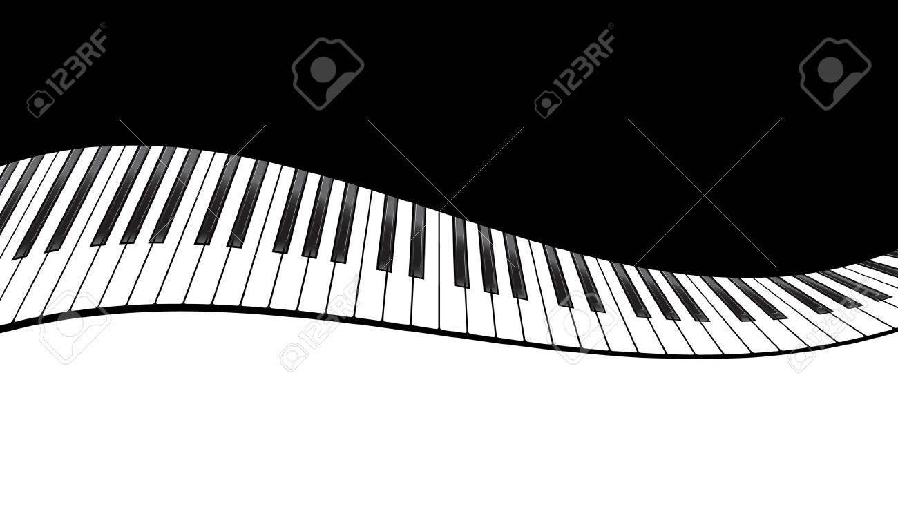 Piano Template, Music Creative Concept Illustration. Vector Royalty ...